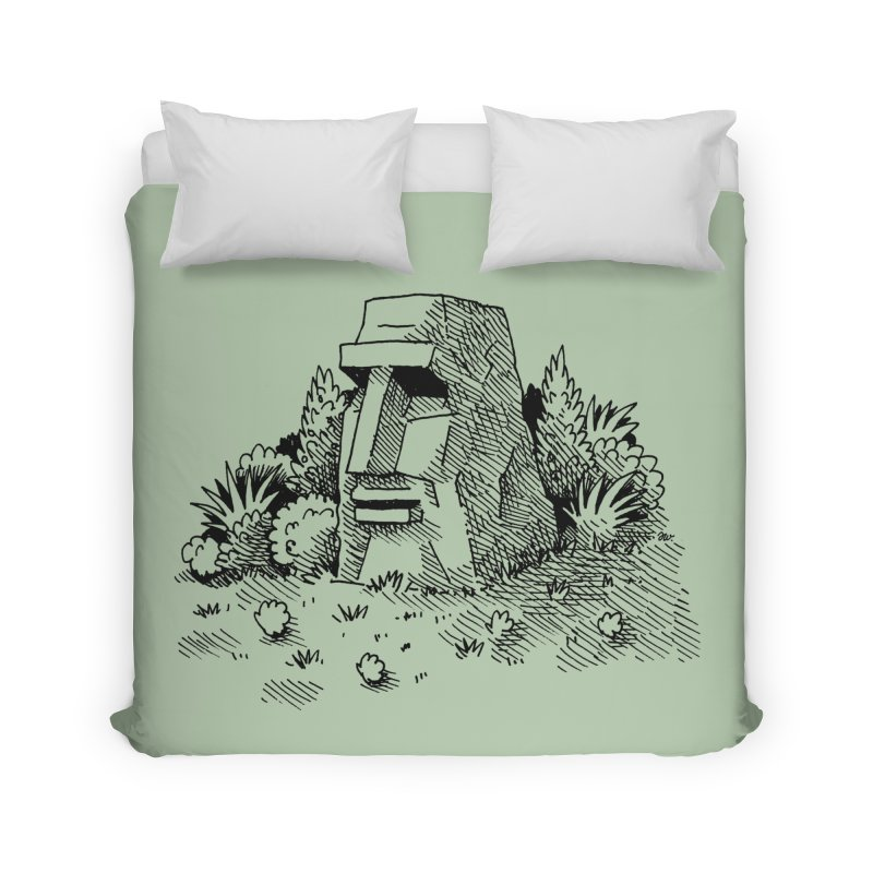 Jungle Monolith Home Duvet by Anthony Woodward's Artist Shop