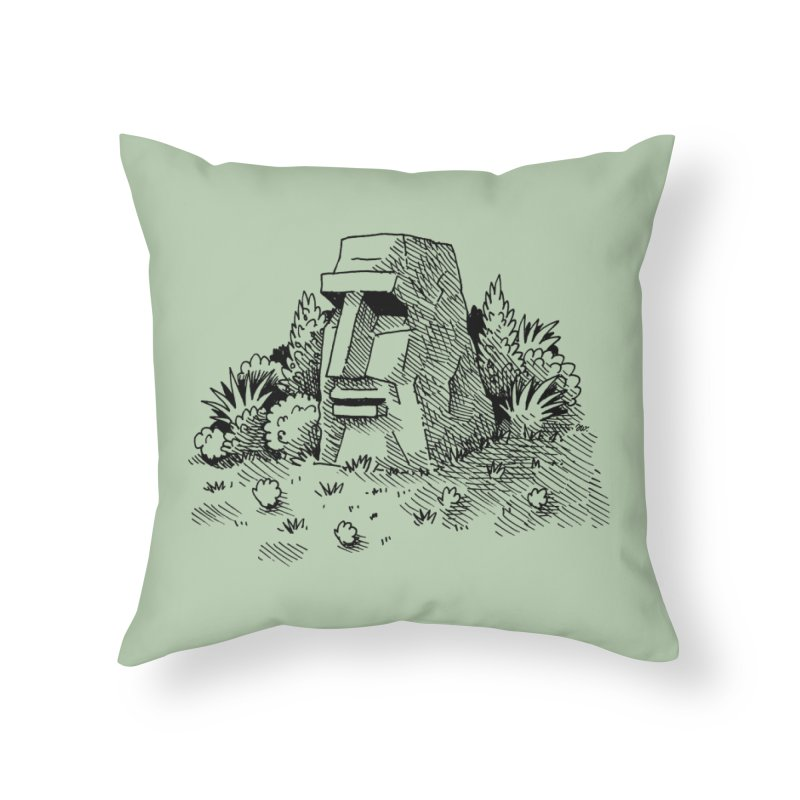 Jungle Monolith Home Throw Pillow by Anthony Woodward's Artist Shop