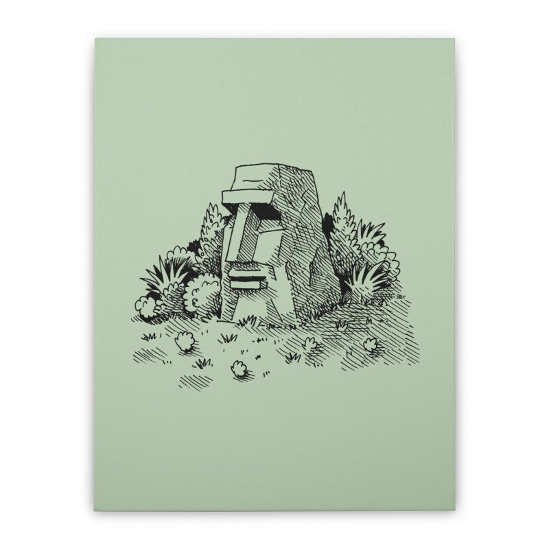Jungle Monolith Home Stretched Canvas by Anthony Woodward's Artist Shop