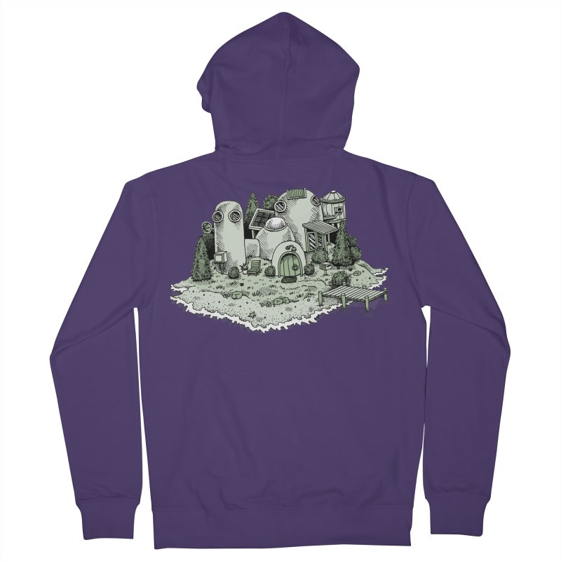 Island Getaway Women's Zip-Up Hoody by Anthony Woodward's Artist Shop
