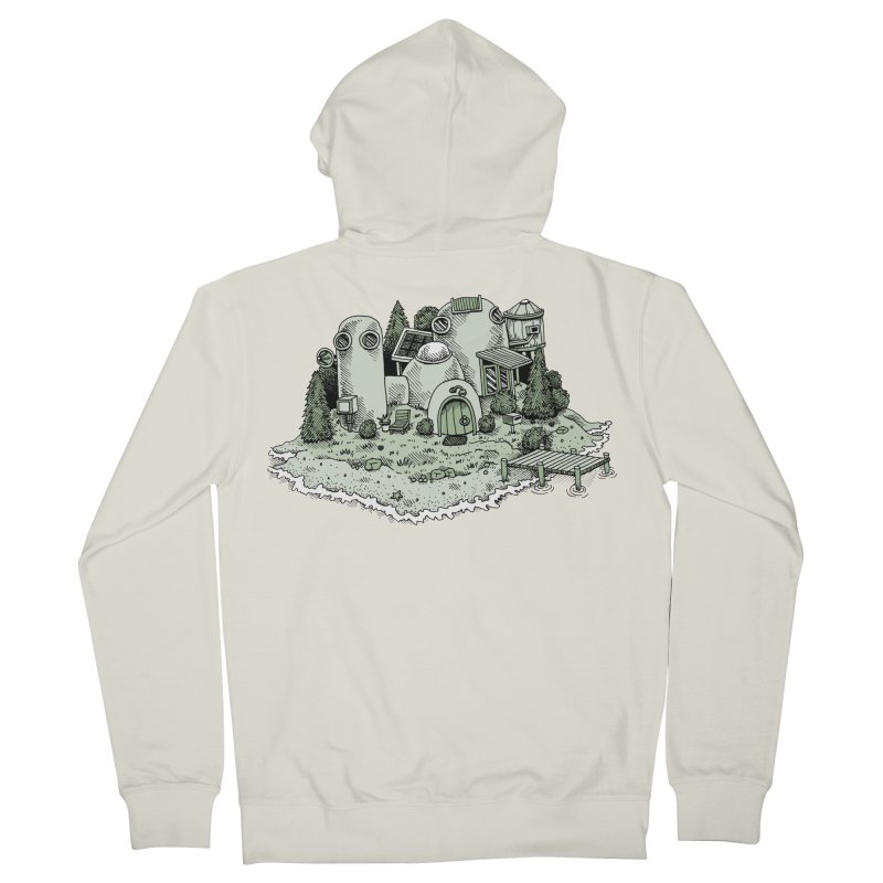 Island Getaway Men's Zip-Up Hoody by Anthony Woodward's Artist Shop