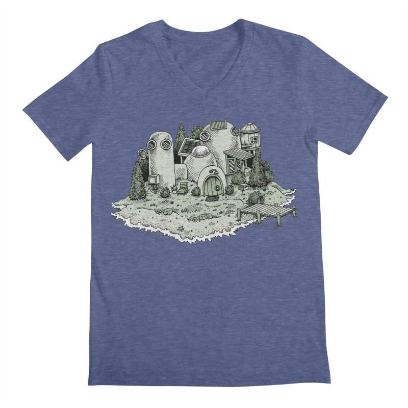 Island Getaway Men's V-Neck by Anthony Woodward's Artist Shop