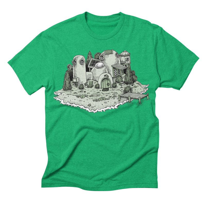 Island Getaway Men's Triblend T-shirt by Anthony Woodward's Artist Shop