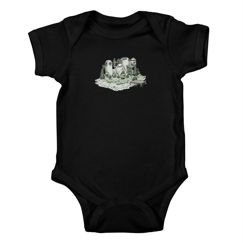 Island Getaway Kids Baby Bodysuit by Anthony Woodward's Artist Shop