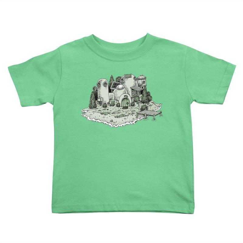 Island Getaway Kids Toddler T-Shirt by Anthony Woodward's Artist Shop
