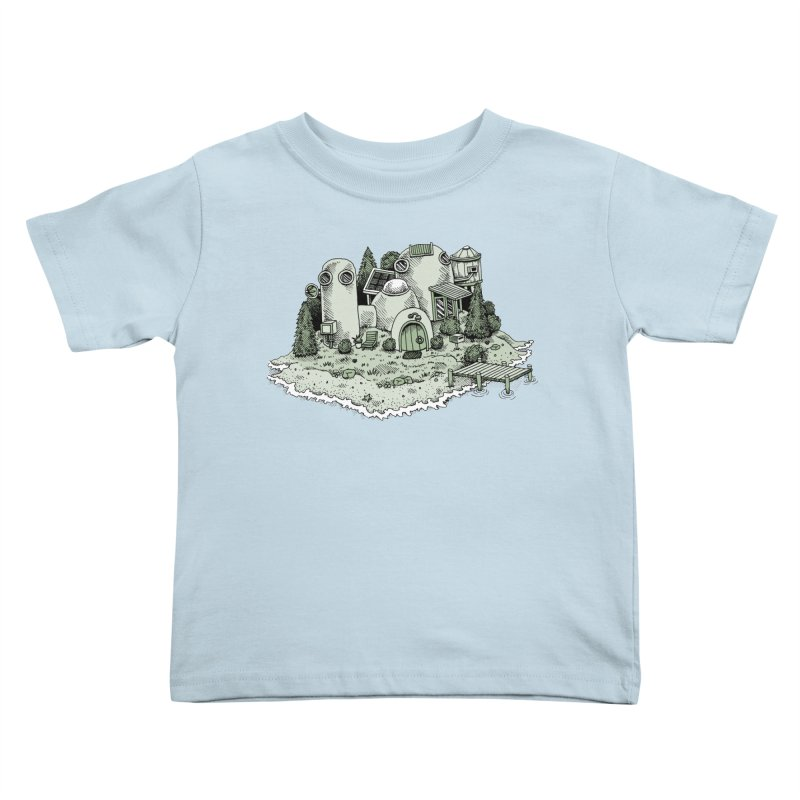 Island Getaway Kids Toddler T-Shirt by Anthony Woodward's Artist Shop