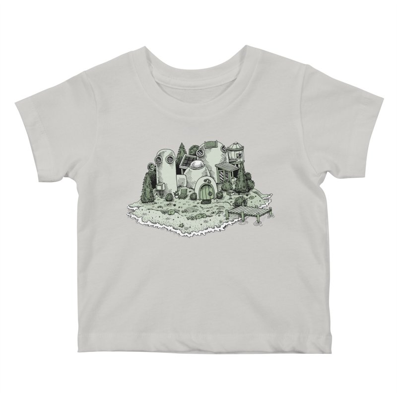 Island Getaway Kids Baby T-Shirt by Anthony Woodward's Artist Shop