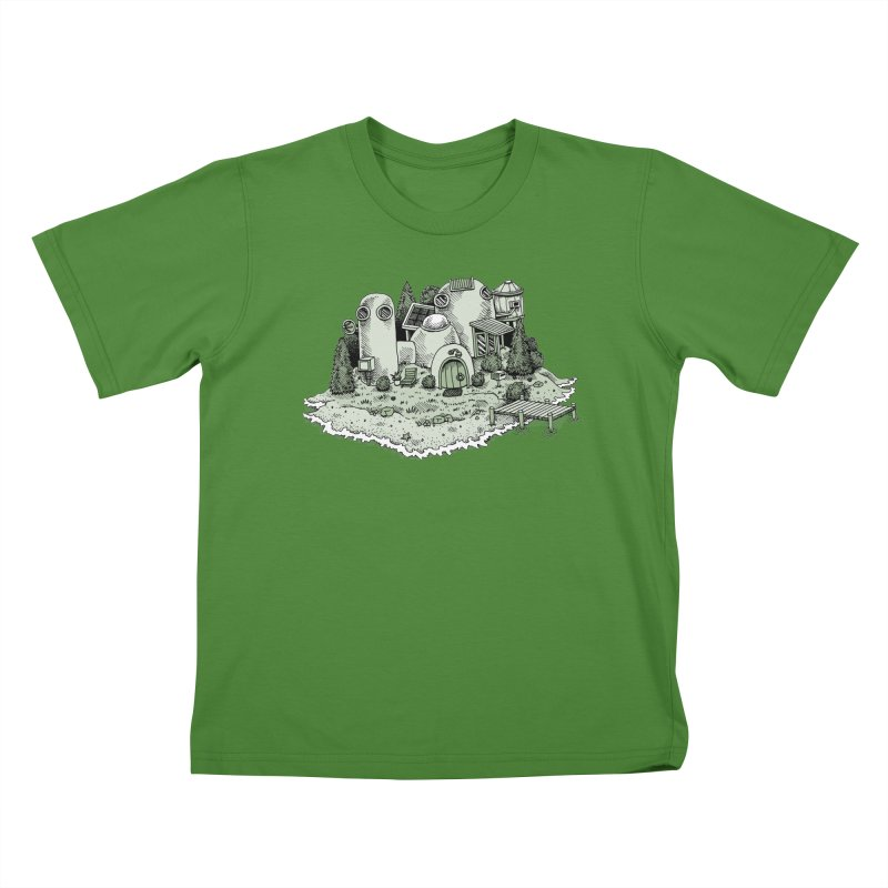 Island Getaway Kids T-shirt by Anthony Woodward's Artist Shop