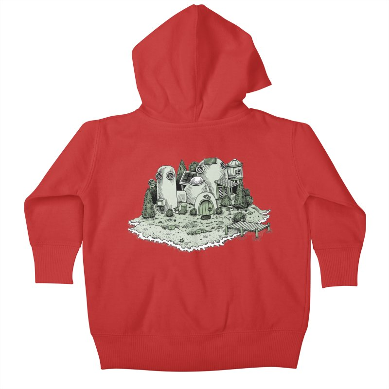 Island Getaway Kids Baby Zip-Up Hoody by Anthony Woodward's Artist Shop