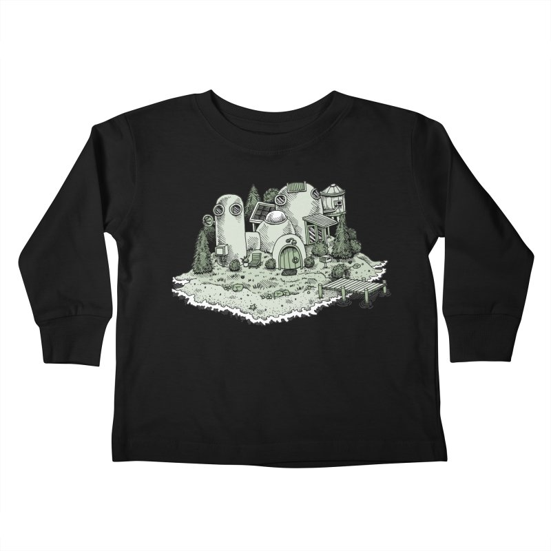 Island Getaway Kids Toddler Longsleeve T-Shirt by Anthony Woodward's Artist Shop