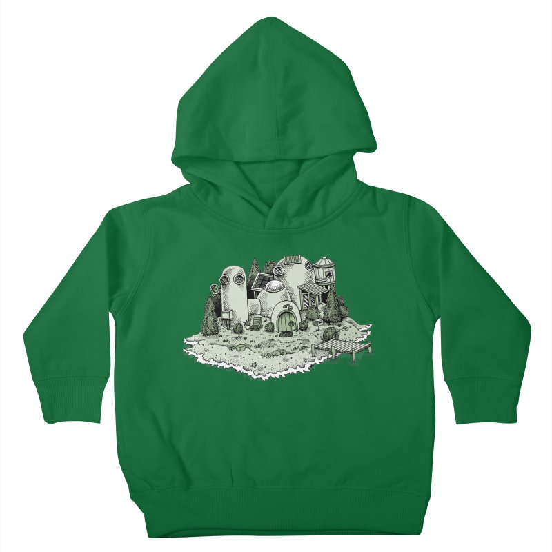 Island Getaway Kids Toddler Pullover Hoody by Anthony Woodward's Artist Shop