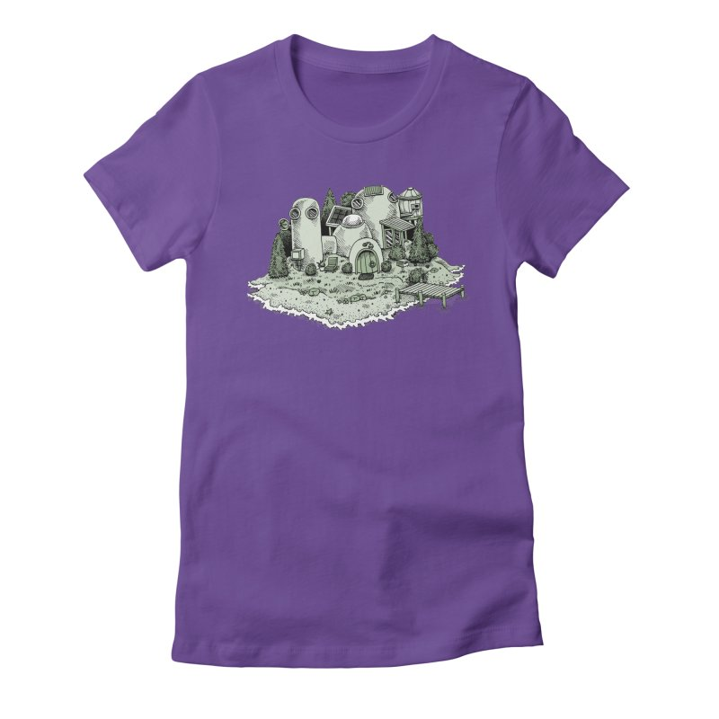 Island Getaway Women's Fitted T-Shirt by Anthony Woodward's Artist Shop