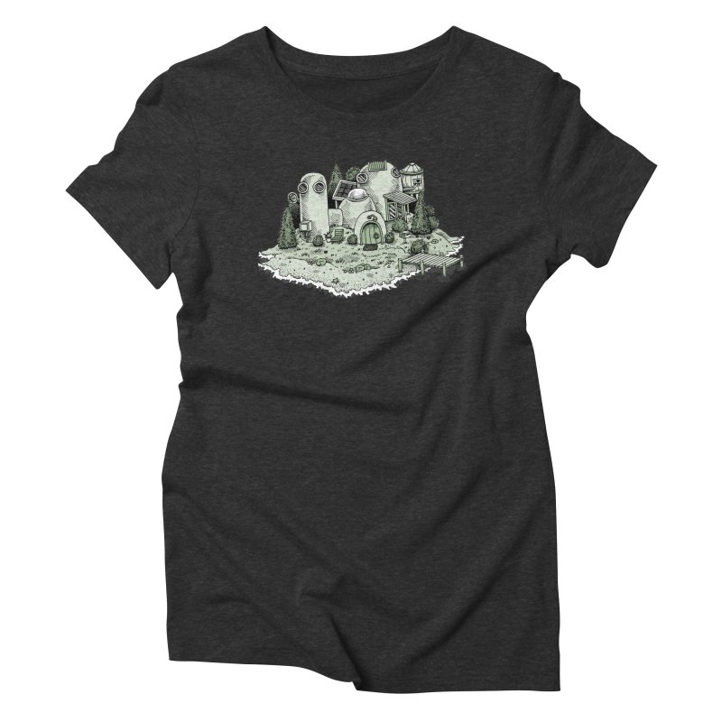 Island Getaway Women's Triblend T-Shirt by Anthony Woodward's Artist Shop