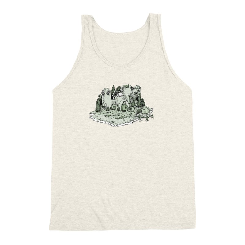 Island Getaway Men's Triblend Tank by Anthony Woodward's Artist Shop