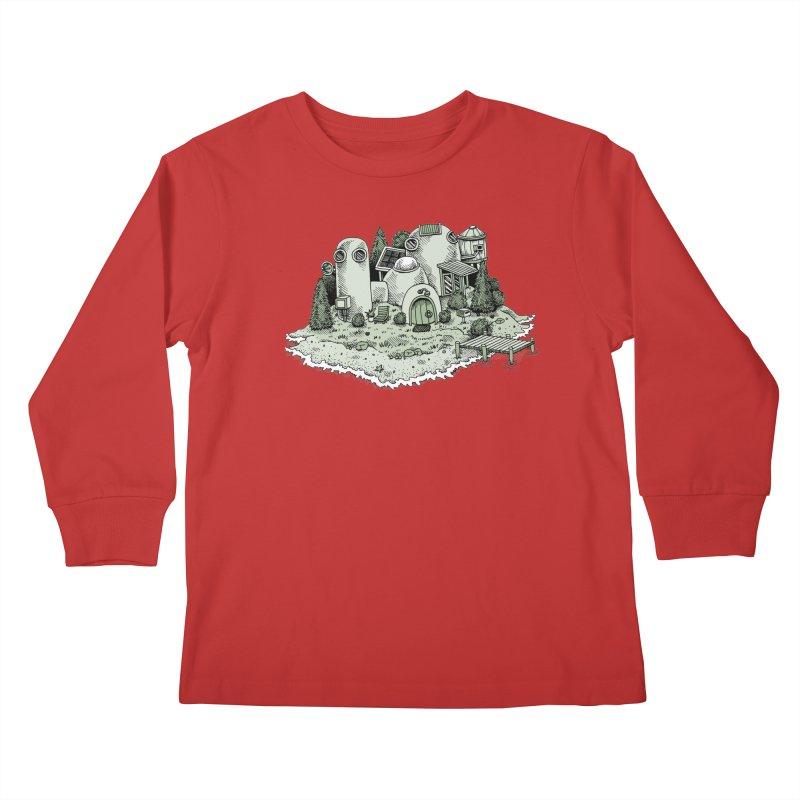 Island Getaway Kids Longsleeve T-Shirt by Anthony Woodward's Artist Shop