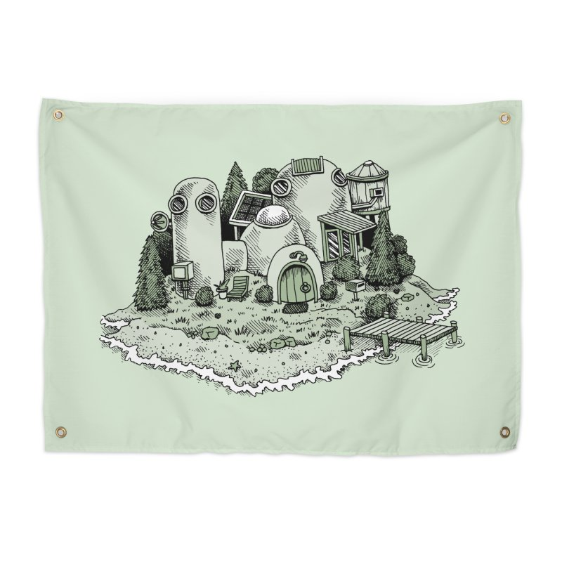 Island Getaway Home Tapestry by Anthony Woodward's Artist Shop