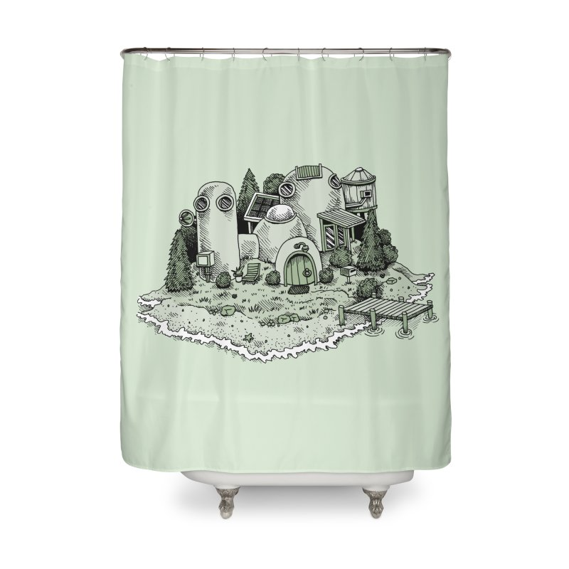 Island Getaway Home Shower Curtain by Anthony Woodward's Artist Shop