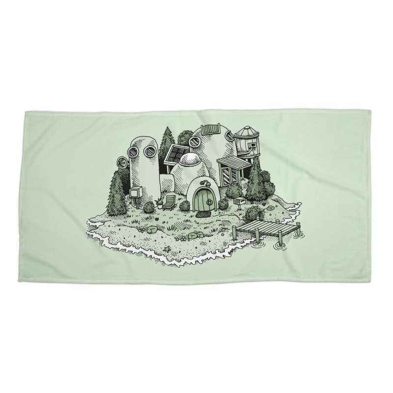 Island Getaway Accessories Beach Towel by Anthony Woodward's Artist Shop