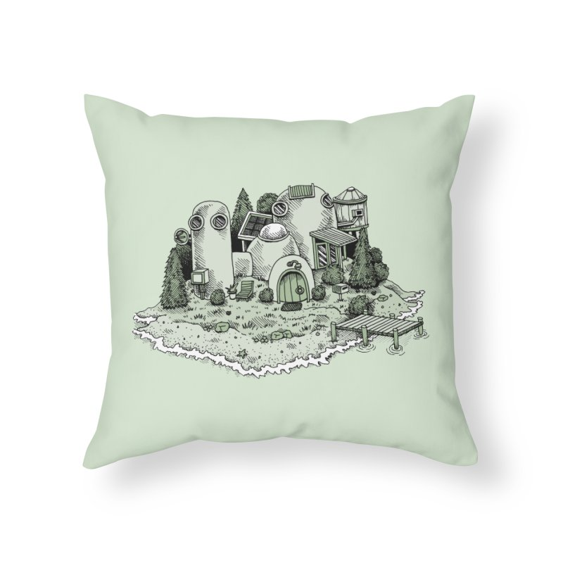 Island Getaway Home Throw Pillow by Anthony Woodward's Artist Shop