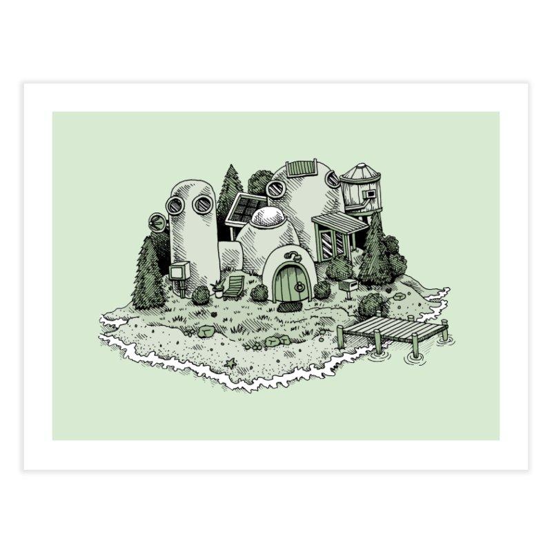 Island Getaway Home Fine Art Print by Anthony Woodward's Artist Shop