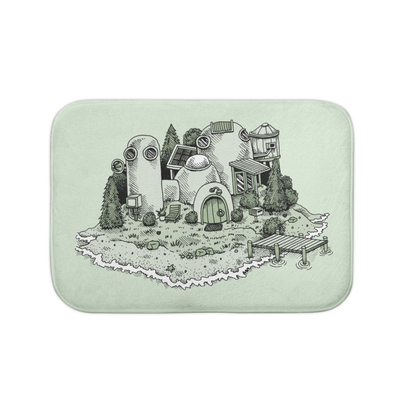Island Getaway Home Bath Mat by Anthony Woodward's Artist Shop