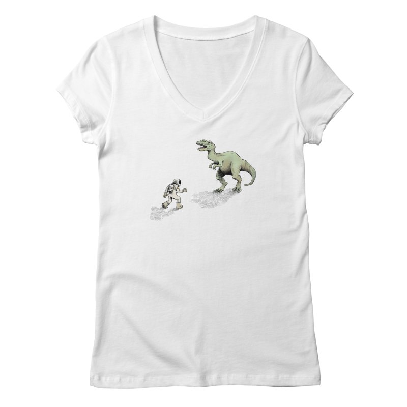 Time Travel Problems Women's V-Neck by Anthony Woodward's Artist Shop