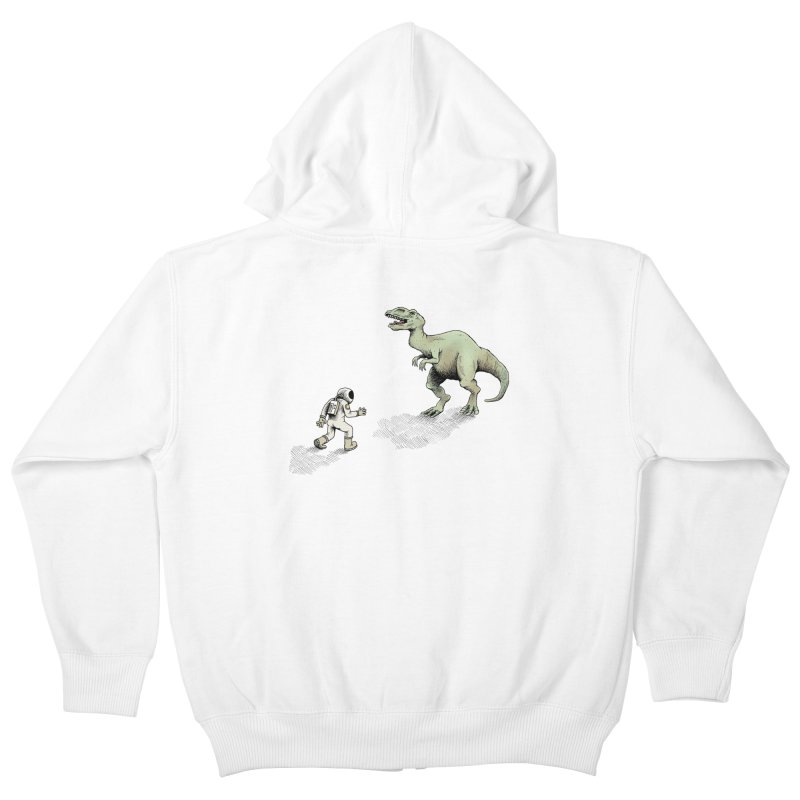 Time Travel Problems Kids Zip-Up Hoody by Anthony Woodward's Artist Shop