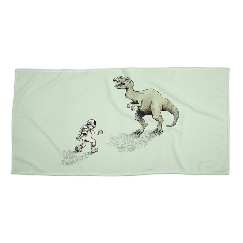 Time Travel Problems Accessories Beach Towel by Anthony Woodward's Artist Shop