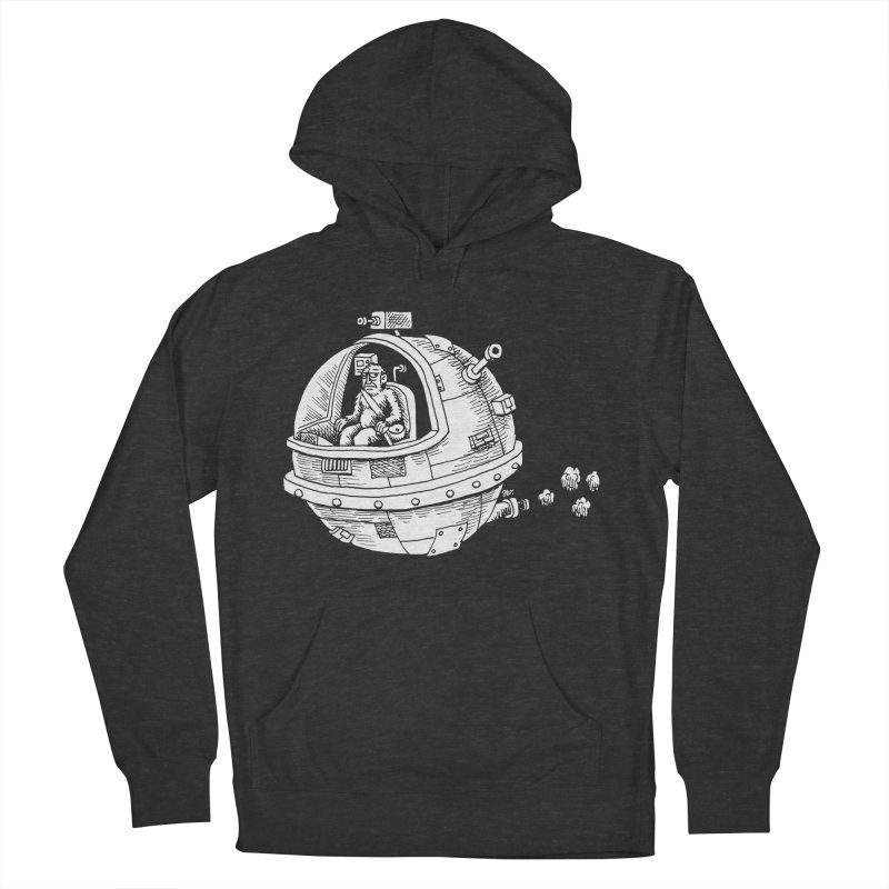 Spacefaring Yeti is in Space Men's Pullover Hoody by Anthony Woodward's Artist Shop