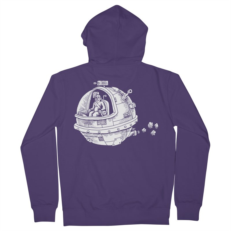 Spacefaring Yeti is in Space Women's Zip-Up Hoody by Anthony Woodward's Artist Shop
