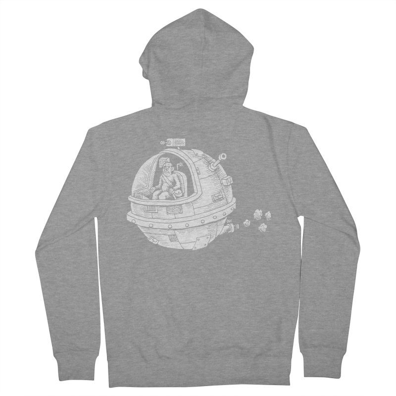 Spacefaring Yeti is in Space Men's Zip-Up Hoody by Anthony Woodward's Artist Shop