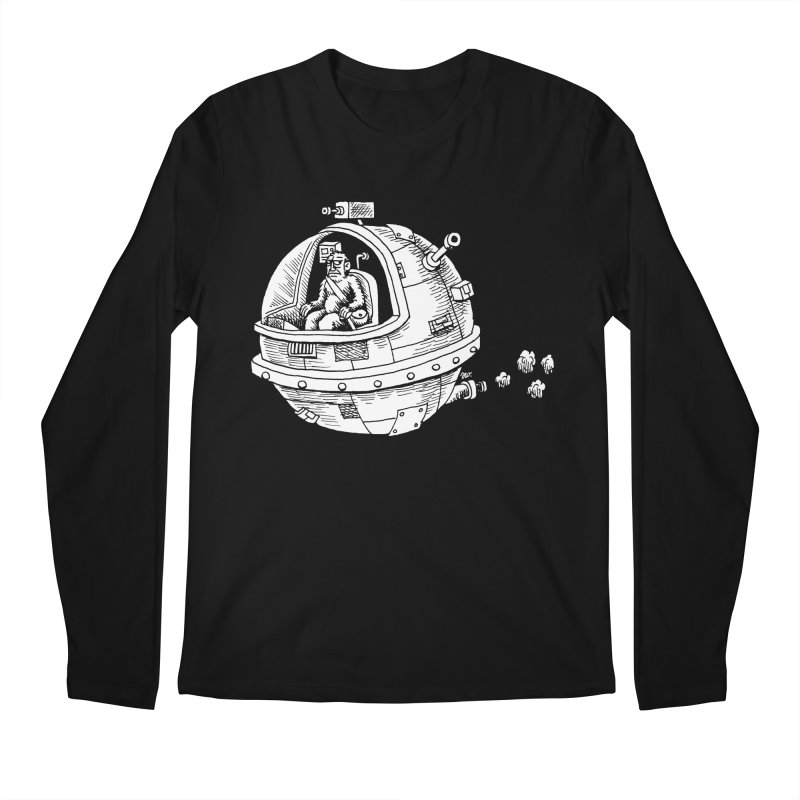 Spacefaring Yeti is in Space Men's Longsleeve T-Shirt by Anthony Woodward's Artist Shop