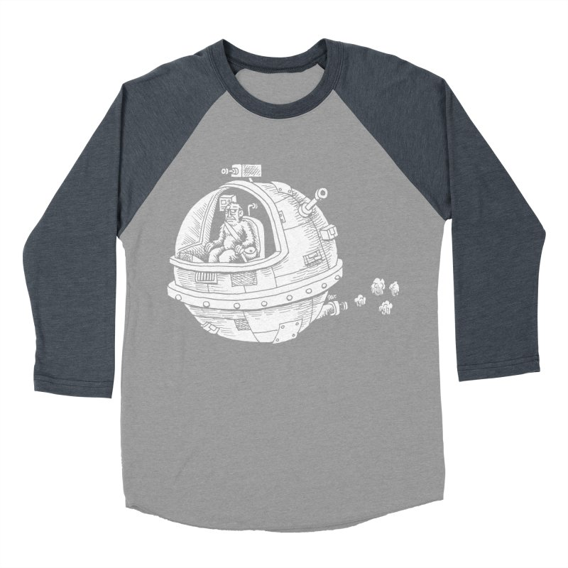 Spacefaring Yeti is in Space Men's Baseball Triblend T-Shirt by Anthony Woodward's Artist Shop