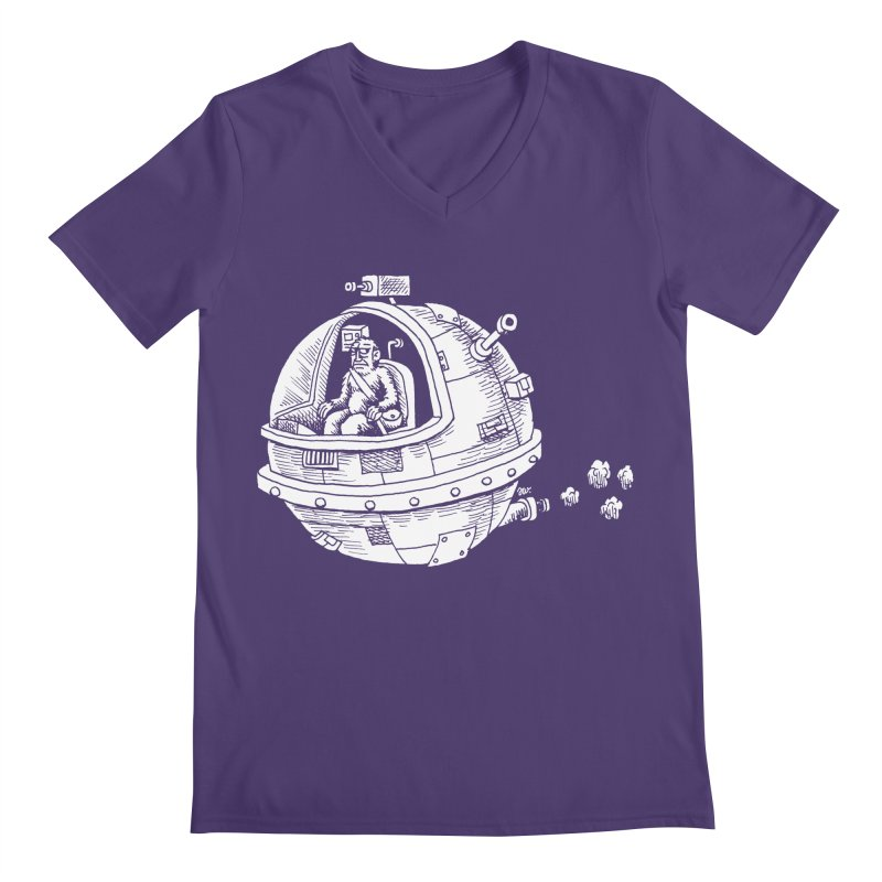 Spacefaring Yeti is in Space Men's V-Neck by Anthony Woodward's Artist Shop