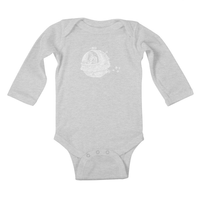 Spacefaring Yeti is in Space Kids Baby Longsleeve Bodysuit by Anthony Woodward's Artist Shop