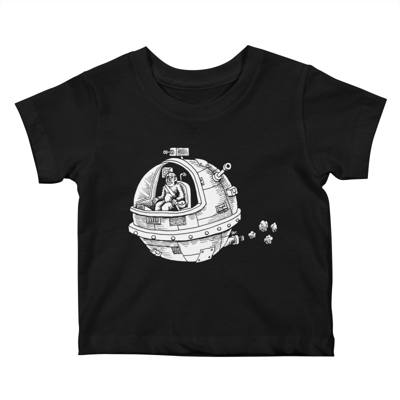 Spacefaring Yeti is in Space Kids Baby T-Shirt by Anthony Woodward's Artist Shop