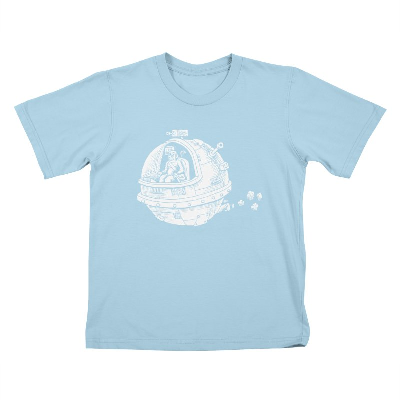 Spacefaring Yeti is in Space Kids T-Shirt by Anthony Woodward's Artist Shop