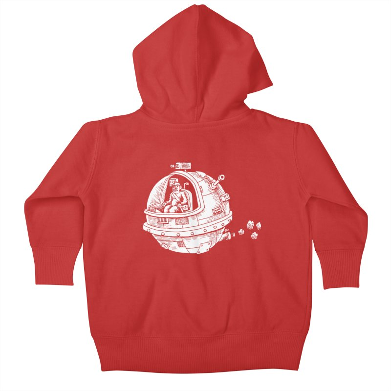 Spacefaring Yeti is in Space Kids Baby Zip-Up Hoody by Anthony Woodward's Artist Shop