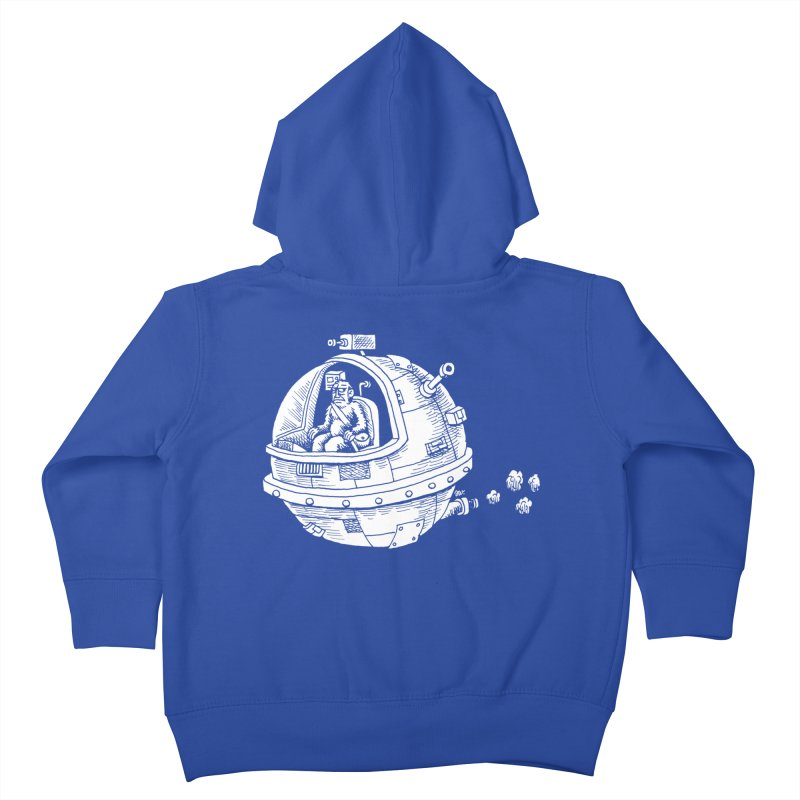 Spacefaring Yeti is in Space Kids Toddler Zip-Up Hoody by Anthony Woodward's Artist Shop