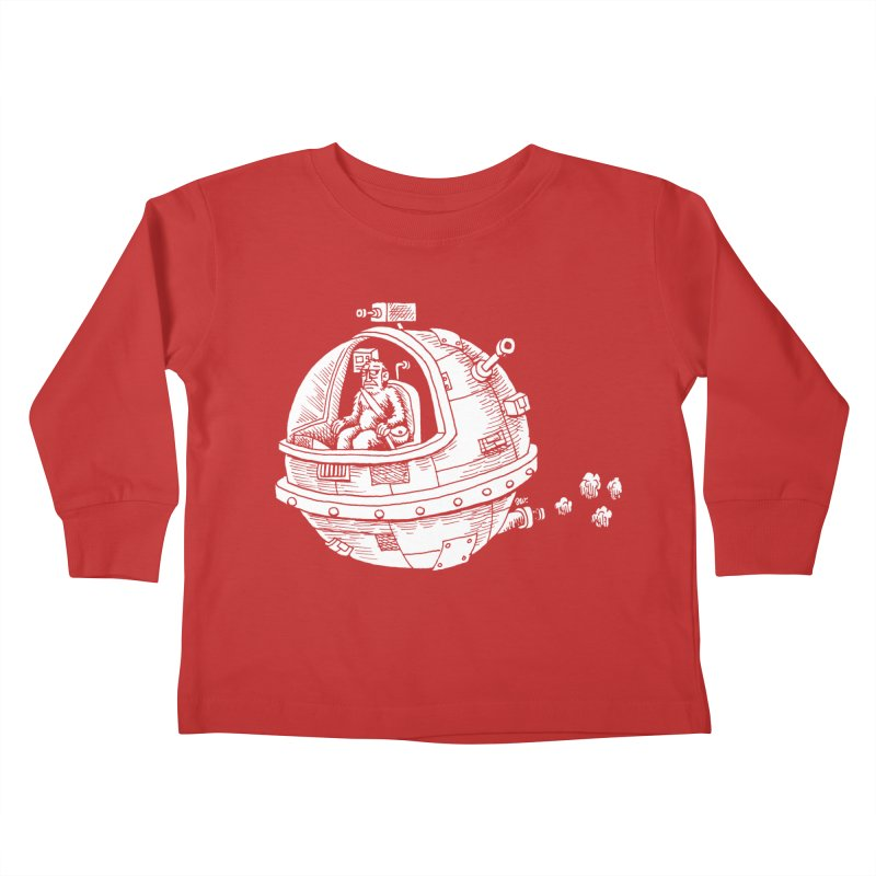Spacefaring Yeti is in Space Kids Toddler Longsleeve T-Shirt by Anthony Woodward's Artist Shop