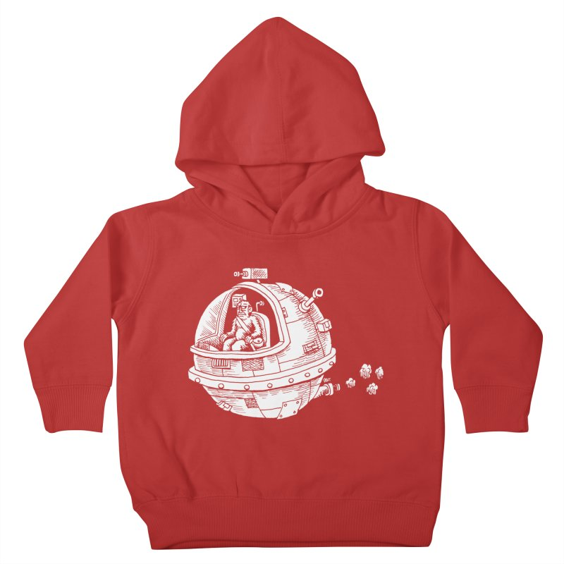 Spacefaring Yeti is in Space Kids Toddler Pullover Hoody by Anthony Woodward's Artist Shop