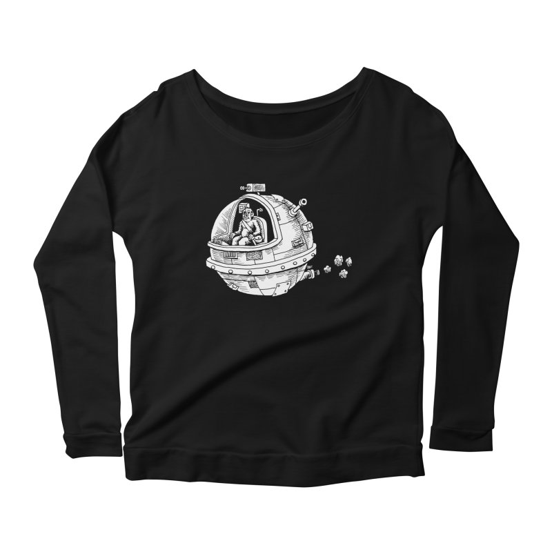 Spacefaring Yeti is in Space Women's Longsleeve Scoopneck  by Anthony Woodward's Artist Shop
