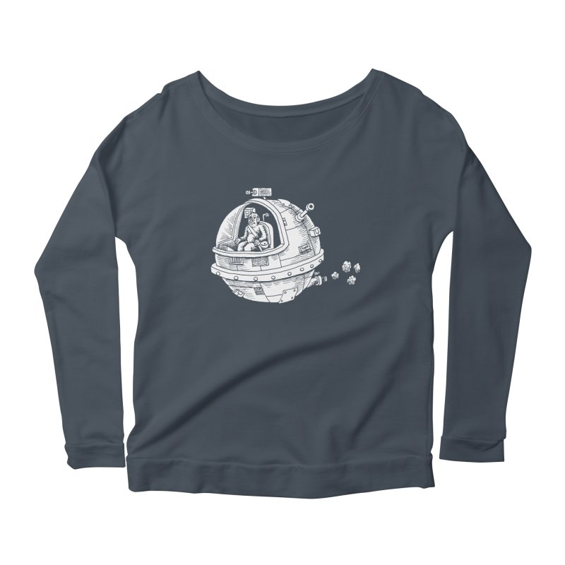 Spacefaring Yeti is in Space Women's Longsleeve Scoopneck  by Anthony Woodward's Artist Shop
