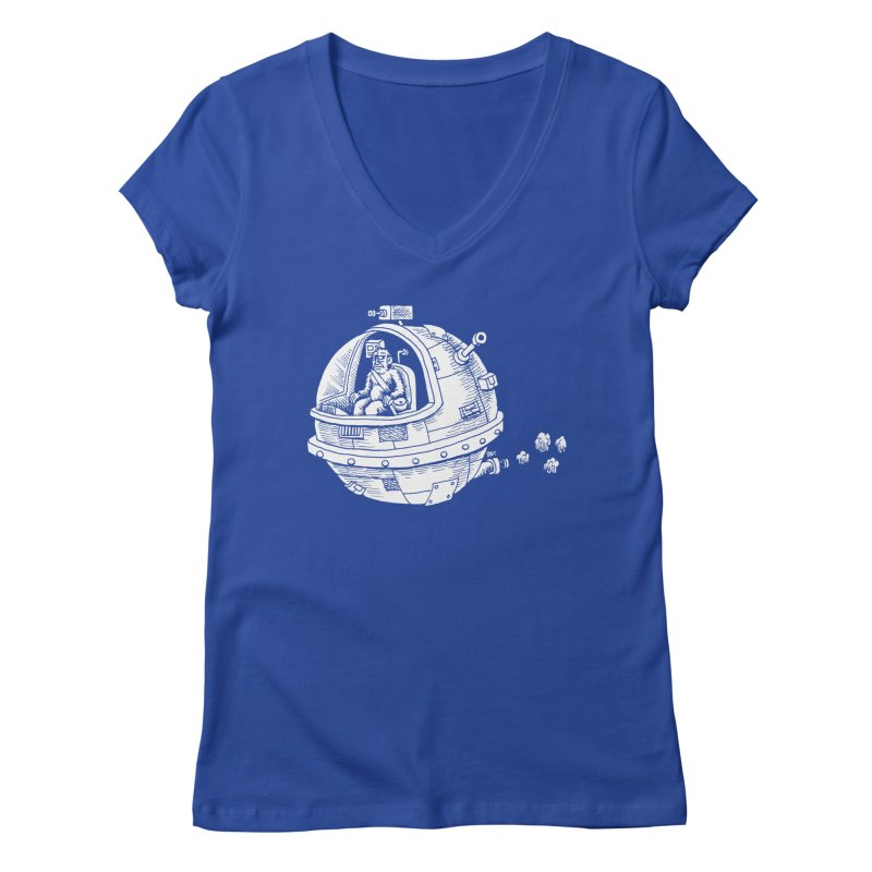 Spacefaring Yeti is in Space Women's V-Neck by Anthony Woodward's Artist Shop