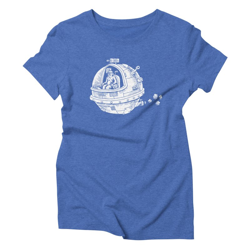 Spacefaring Yeti is in Space Women's Triblend T-Shirt by Anthony Woodward's Artist Shop