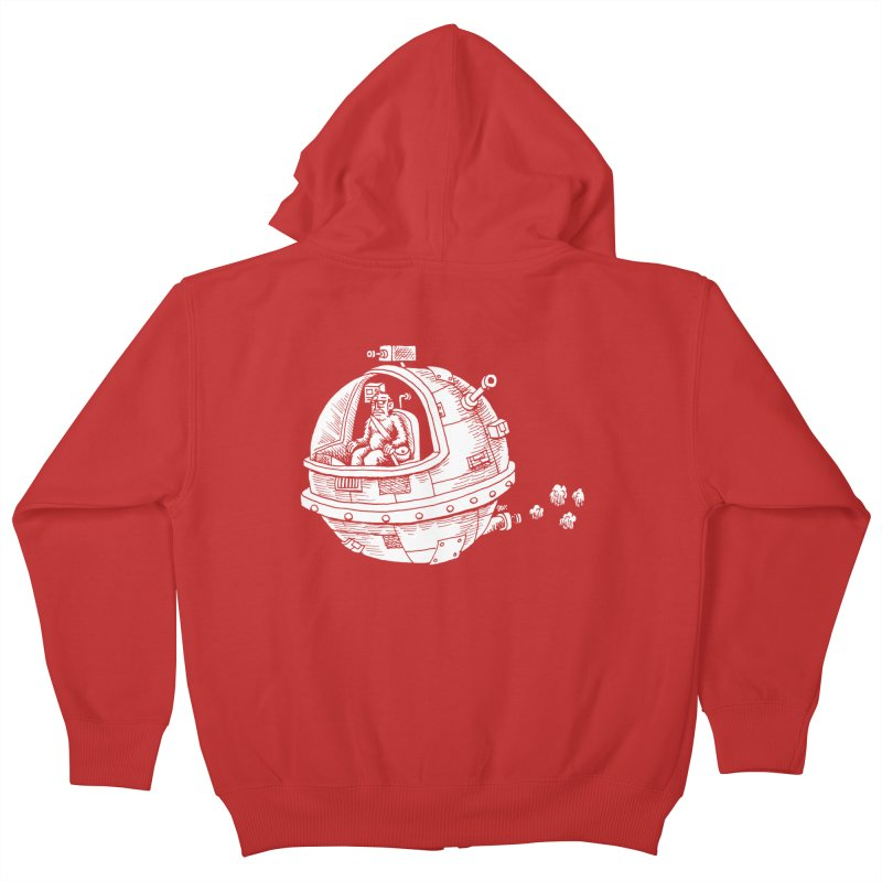 Spacefaring Yeti is in Space Kids Zip-Up Hoody by Anthony Woodward's Artist Shop