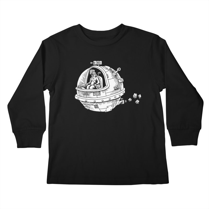 Spacefaring Yeti is in Space Kids Longsleeve T-Shirt by Anthony Woodward's Artist Shop