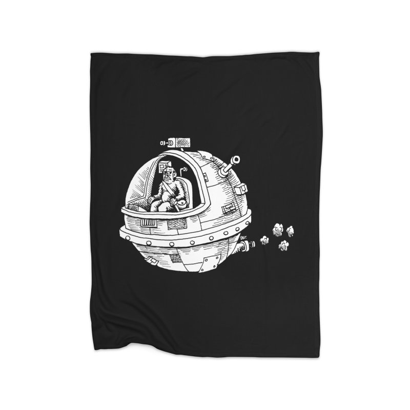 Spacefaring Yeti is in Space Home Blanket by Anthony Woodward's Artist Shop