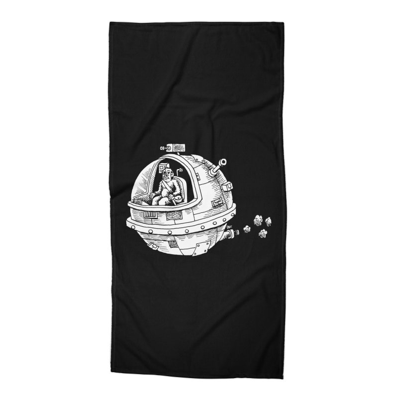 Spacefaring Yeti is in Space Accessories Beach Towel by Anthony Woodward's Artist Shop