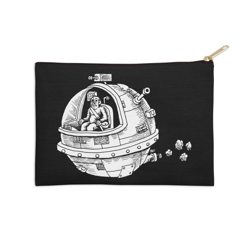 Spacefaring Yeti is in Space Accessories Zip Pouch by Anthony Woodward's Artist Shop
